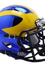 RIDDELL Michigan Wolverines Chrome Mini Speed Helmet