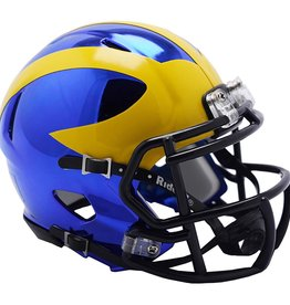 RIDDELL Michigan Wolverines Chrome Mini Speed Helmet
