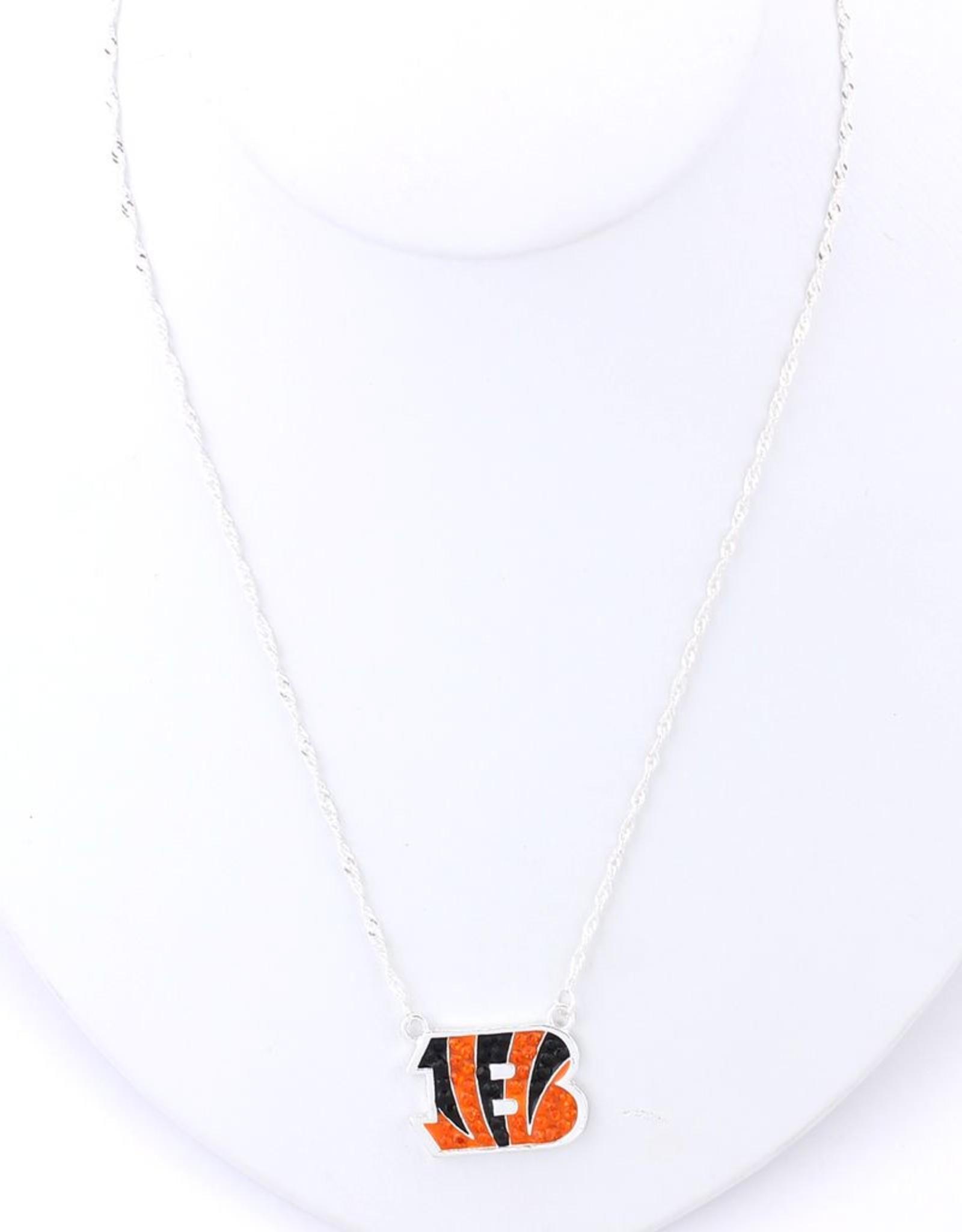 Cincinnati Bengals Crystal Logo Necklace