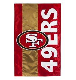 EVERGREEN San Francisco 49ers Stripe Garden Flag