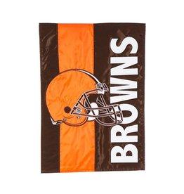 EVERGREEN Cleveland Browns Stripe Garden Flag