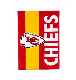 EVERGREEN Kansas City Chiefs Stripe Garden Flag