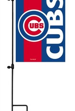 EVERGREEN Chicago Cubs Stripe Garden Flag