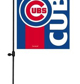EVERGREEN Chicago Cubs Stripe Garden Flag