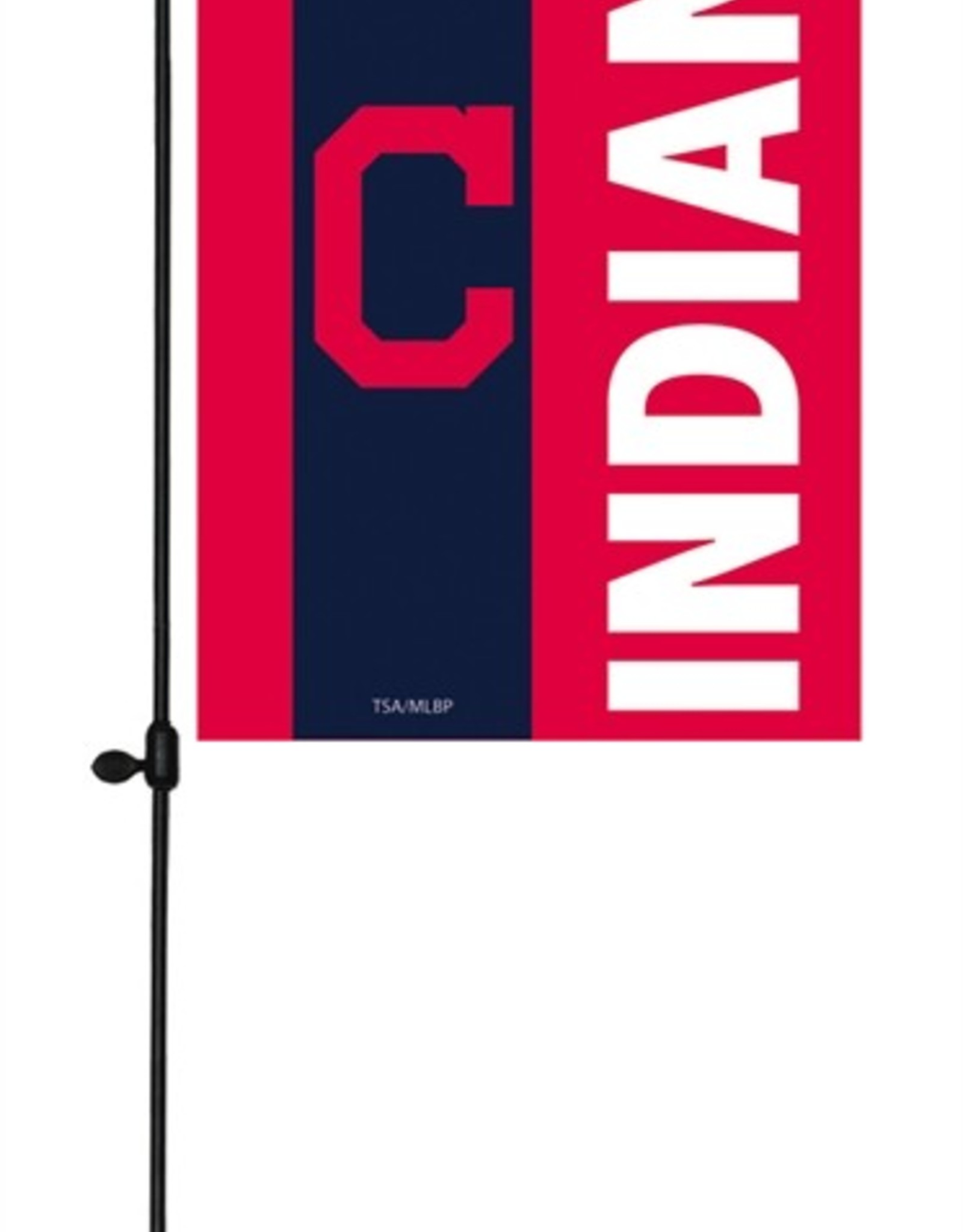 EVERGREEN Cleveland Indians Stripe Garden Flag
