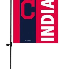 EVERGREEN Cleveland Indians Stripe Garden Flag