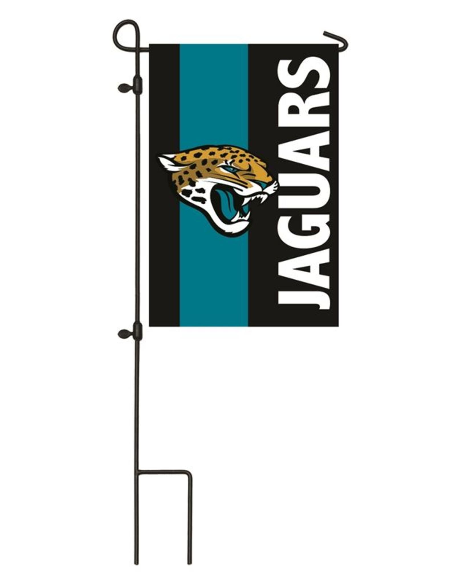 EVERGREEN Jacksonville Jaguars Stripe Garden Flag
