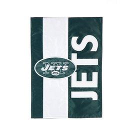 EVERGREEN New York Jets Stripe Garden Flag