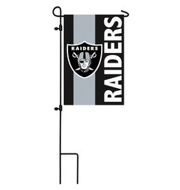 Oakland Raiders Stripe Garden Flag