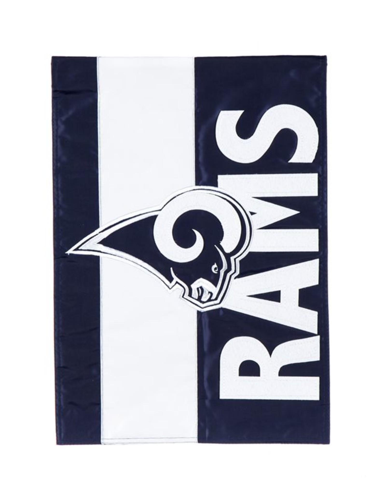 EVERGREEN Los Angeles Rams Stripe Garden Flag