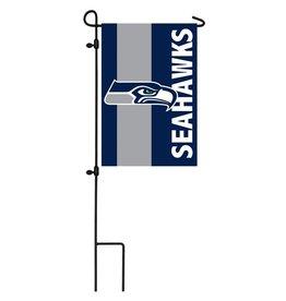 Seattle Seahawks Stripe Garden Flag