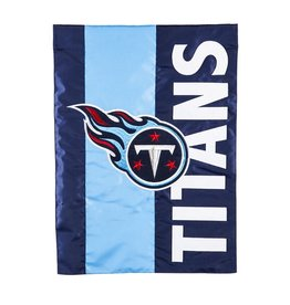 EVERGREEN Tennessee Titans Stripe Garden Flag