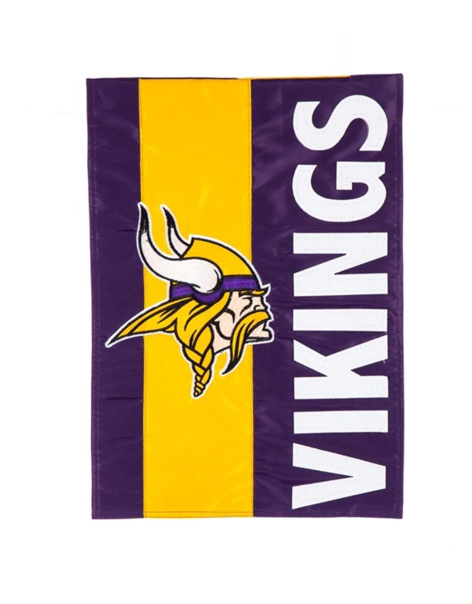 EVERGREEN Minnesota Vikings Stripe Garden Flag