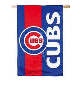 "EVERGREEN Chicago Cubs 28"" x 44"" Striped House Flag"