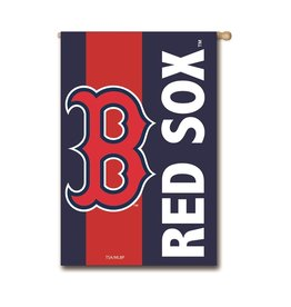 "EVERGREEN Boston Red Sox 28"" x 44"" Striped House Flag"