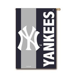"EVERGREEN New York Yankees 28"" x 44"" Striped House Flag"