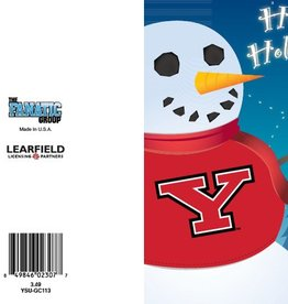 Youngstown State Penguins Snowman Greeting Card