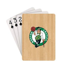 PRO SPECIALTIES GROUP Boston Celtics Steel Grid Playing Cards