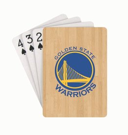 PRO SPECIALTIES GROUP Golden State Warriors Steel Grid Playing Cards