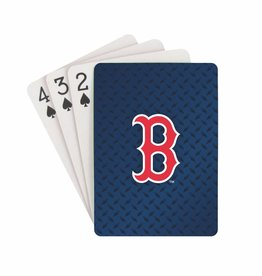 PRO SPECIALTIES GROUP Boston Red Sox Steel Grid Playing Cards