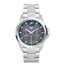JACK MASON Philadelphia Eagles Jack Mason Men's Alumni Silver Multi-Function Watch