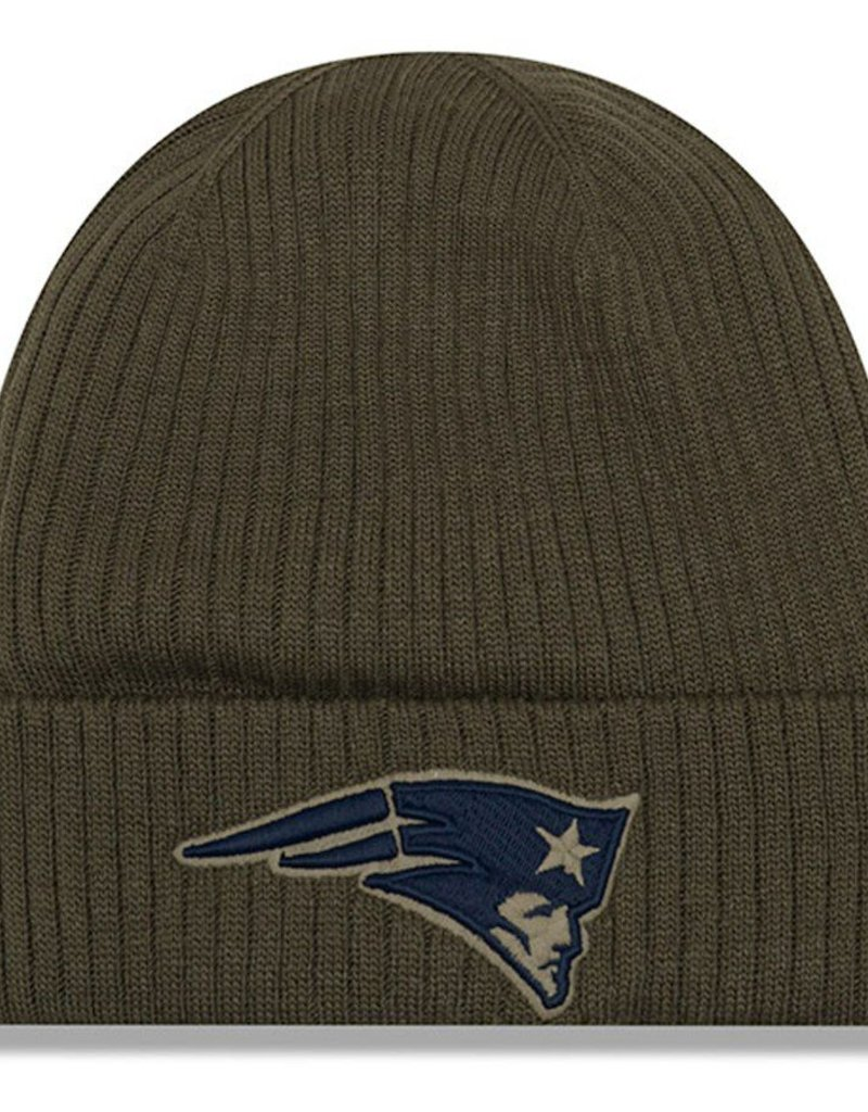 54afa2645 ... best new era new england patriots new era nfl 2018 salute to service  cuffed knit hat
