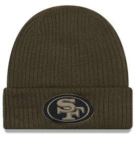 NEW ERA San Francisco 49ers New Era NFL 2018 Salute to Service Cuffed Knit Hat