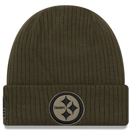 NEW ERA Pittsburgh Steelers New Era NFL 2018 Salute to Service Cuffed Knit Hat