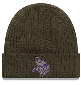 NEW ERA Minnesota Vikings New Era NFL 2018 Salute to Service Cuffed Knit Hat