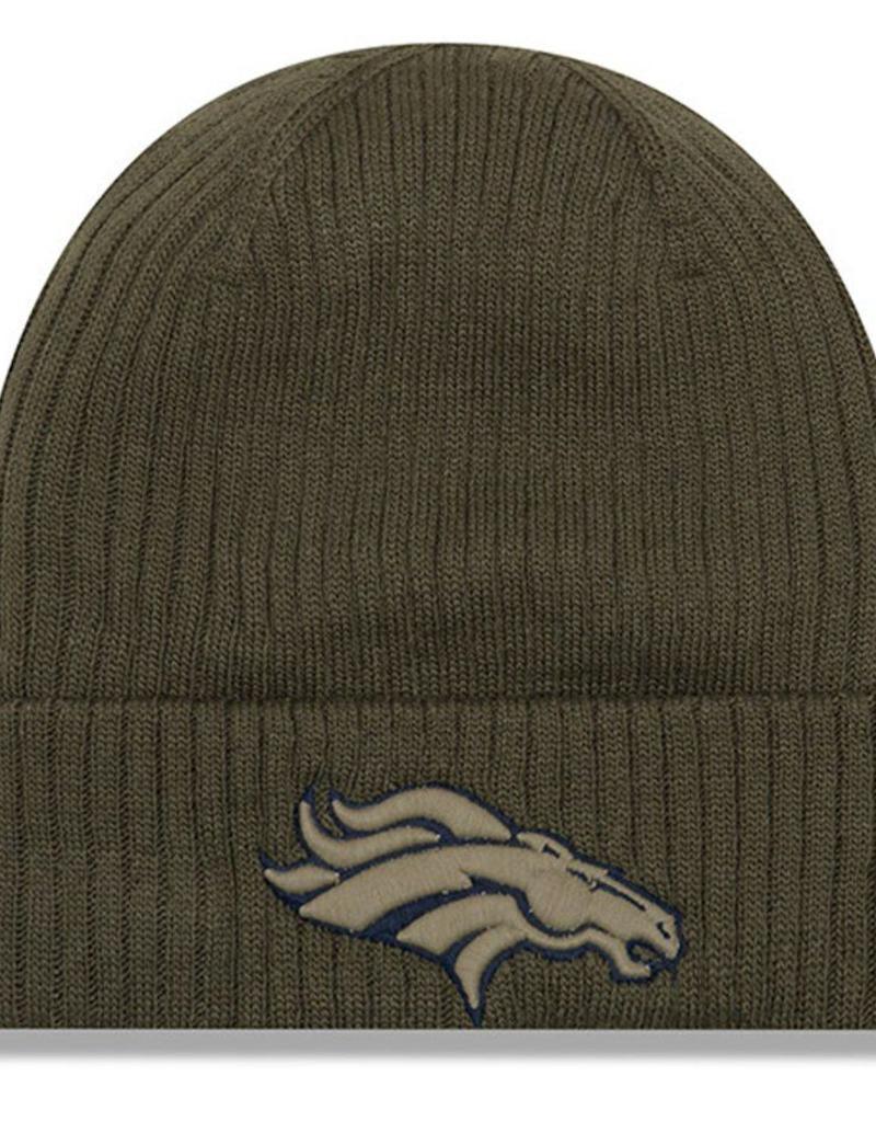 new styles b3213 1e662 ... NEW ERA Denver Broncos New Era NFL 2018 Salute to Service Cuffed Knit  Hat ...