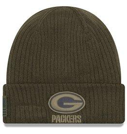 NEW ERA Green Bay Packers New Era NFL 2018 Salute to Service Cuffed Knit Hat
