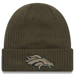 NEW ERA Denver Broncos New Era NFL 2018 Salute to Service Cuffed Knit Hat