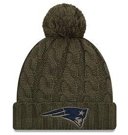 NEW ERA New England Patriots Womens New Era NFL 2018 Salute to Service Cuffed Knit Hat
