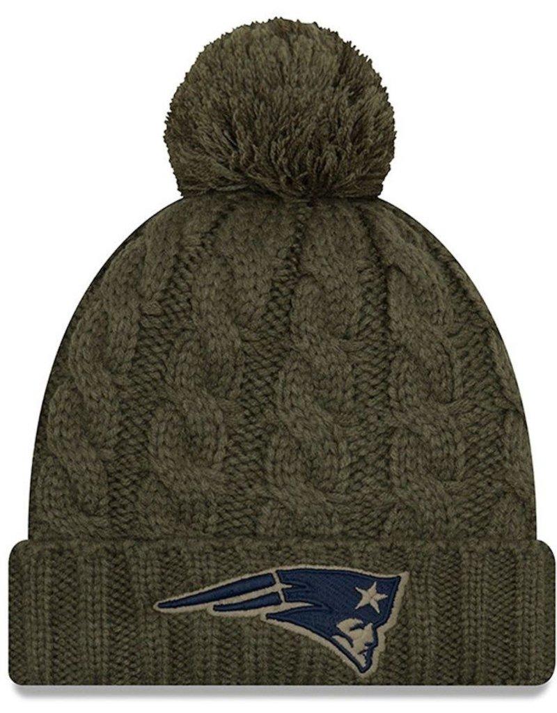 size 40 e03a4 19ce4 NEW ERA New England Patriots Womens New Era NFL 2018 Salute to Service  Cuffed Knit Hat