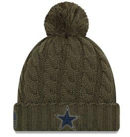 NEW ERA Dallas Cowboys Womens New Era NFL 2018 Salute to Service Cuffed Knit Hat