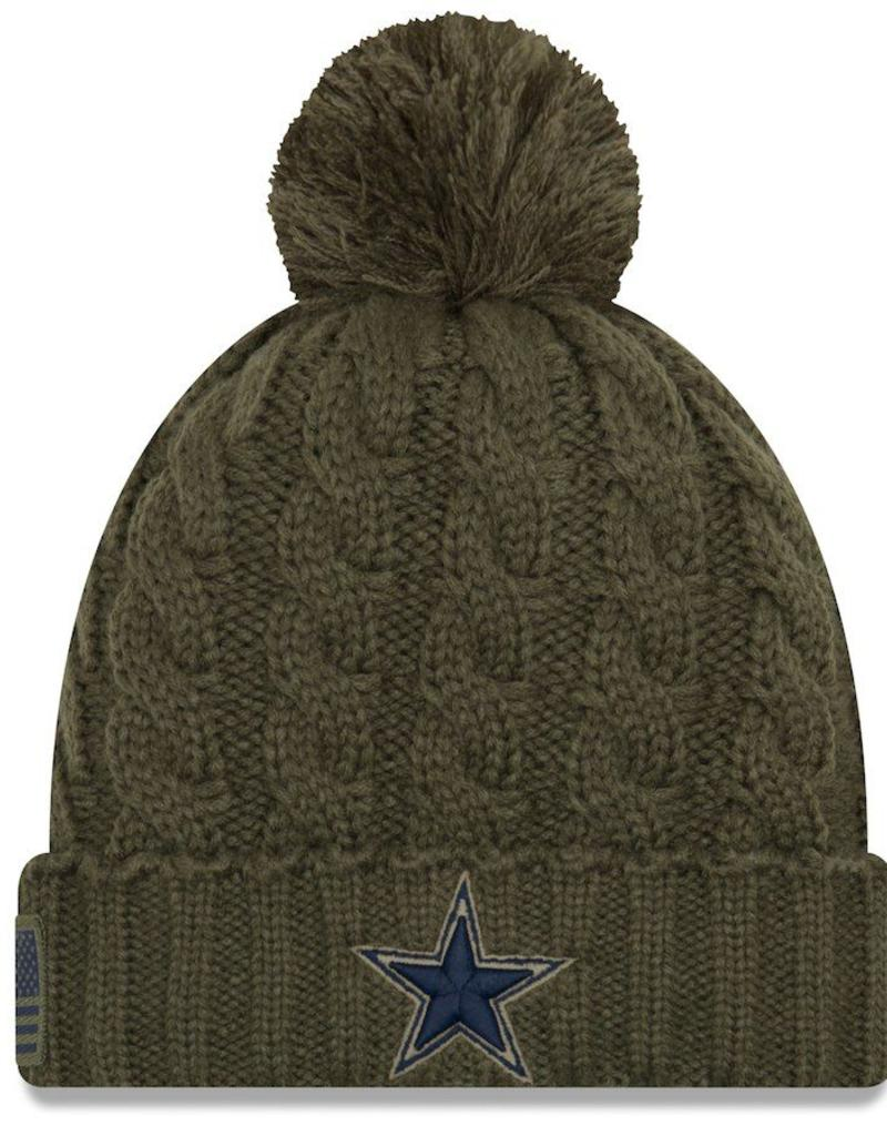 free shipping 353e8 856fd ... aliexpress new era dallas cowboys womens new era nfl 2018 salute to  service cuffed knit hat