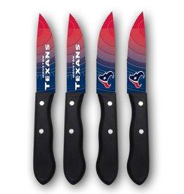 SPORTS VAULT CORP Houston Texans 4-Piece Stainless Steel Steak Knife Set