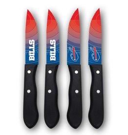 SPORTS VAULT CORP Buffalo Bills 4-Piece Stainless Steel Steak Knife Set
