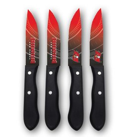 SPORTS VAULT CORP Tampa Bay Buccaneers 4-Piece Stainless Steel Steak Knife Set