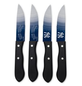 SPORTS VAULT CORP New York Yankees 4-Piece Stainless Steel Steak Knife Set