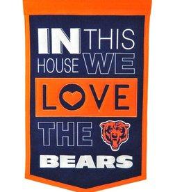 WINNING STREAK SPORTS Chicago Bears In this House Love Banner