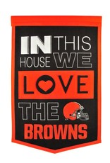 WINNING STREAK SPORTS Cleveland Browns In this House Love Banner