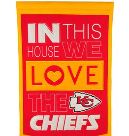 WINNING STREAK SPORTS Kansas City Chiefs In this House Love Banner