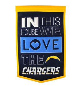 WINNING STREAK SPORTS Los Angeles Chargers In this House Love Banner