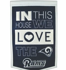 WINNING STREAK SPORTS Los Angles Rams In this House Love Banner