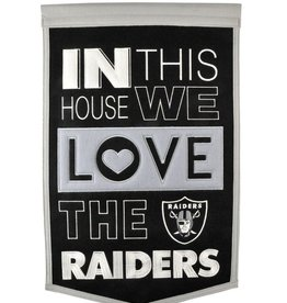 WINNING STREAK SPORTS Oakland Raiders In this House Love Banner