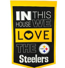 WINNING STREAK SPORTS Pittsburgh Steelers In this House Love Banner