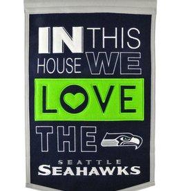 WINNING STREAK SPORTS Seattle Seahawks In this House Love Banner