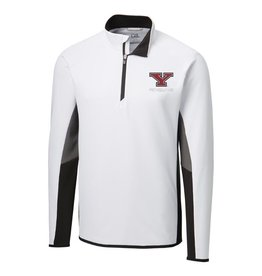 CUTTER & BUCK Youngstown State Penguins Men's Colorblock Traverse Half Zip Top