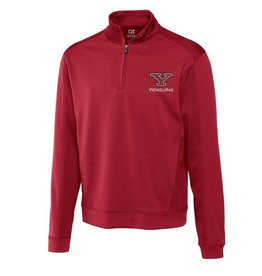 CUTTER & BUCK Youngstown State Penguins Men's DryTec Edge Half Zip Top